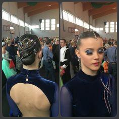 Dance look, hair nad make-up #dance #hair #bun #makeup