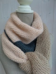 """Scrappy scarf"" done - Les bricoles du grenier Knitting Patterns Free, Free Knitting, Love Crochet, Knit Crochet, Laine Katia, Prayer Shawl Patterns, Knitted Shawls, Diy Fashion, Point Mousse"
