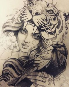 """2,948 Likes, 37 Comments - Teniele Sadd (@teniele) on Instagram: """"Julie's tiger lady"""""""