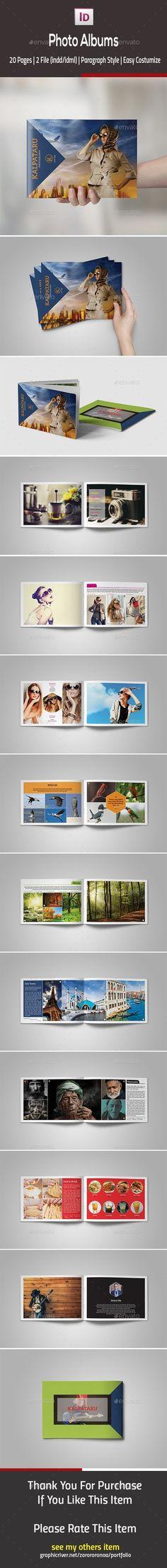 Photo Albums Template InDesign INDD #design Download: http://graphicriver.net/item/photo-albums/13243231?ref=ksioks