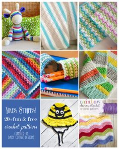 Free Striped Crochet Patterns compiled by Daisy Cottage Designs. All of the best stripe crochet patterns. #crochet #freecrochetpattern #stripedcrochetpattern