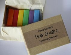Rainbow Colored Hair Chalks  6 Pack  Temporary by ShareeBoutique, $20.00  I want this hella bad.
