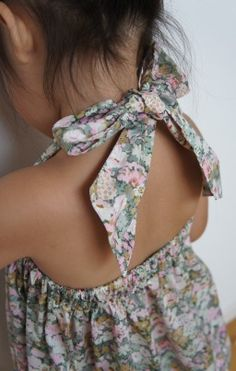 Halter neck liberty jumper, so pretty. #designer #kids #fashion