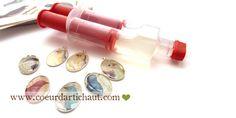 Résine Ice Resin en seringue, tutoriel pour créer des bijoux par Coeur d'artichaut