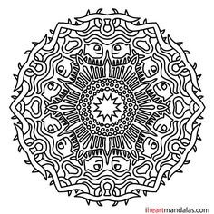 Stained Glass Lamp Mandala Coloring Page Gumroad Square Pdf With Watermark