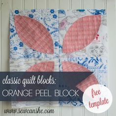 mIssouri star quilt company has a video tutorial using this as a Name: 'Quilting : Orange Peel Quilt Block Template 3 sizes Quilting Tutorials, Quilting Designs, Sewing Tutorials, Sewing Projects, Quilting Templates, Quilt Design, Quilting Projects, Sewing Crafts, Quilt Block Patterns