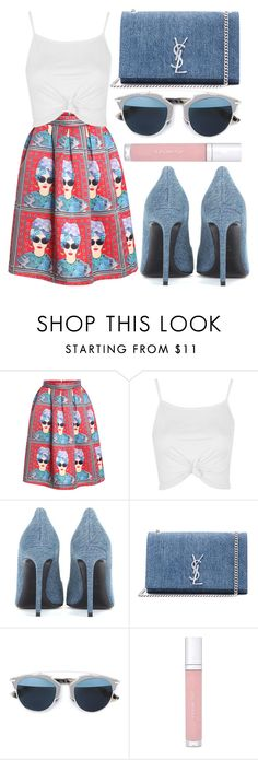"""""""street style"""" by sisaez on Polyvore featuring Topshop, Yves Saint Laurent, Christian Dior and shu uemura"""