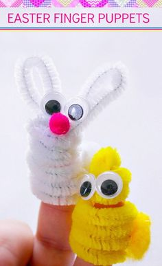 Simple and easy Easter Finger Puppets you can make with your kids this spring!