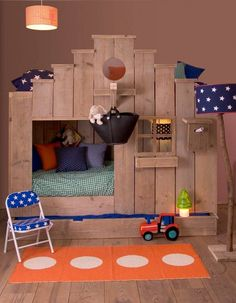 kids bedroom | Vogelhuis by Saartje Prum