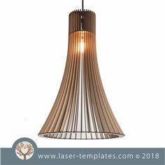 Laser Cut 3mm No Glue Lamp Shade Template. Shop designs online