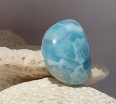 Larimar Caribbean Azure Blue Marbled Half-moon cab by MyBeachStore
