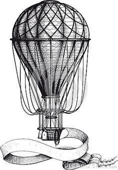 воздушный шар винтаж - Google Search