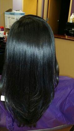 Silk press Long Curly Hair, Curly Hair Styles, Natural Hair Styles, Black Hair Care, Silk Press, Relaxer, African American Hairstyles, Relaxed Hair, Hair Hacks