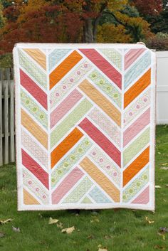 Made by Craft Buds: The Broken Herringbone Quilt, pattern by Violet Craft