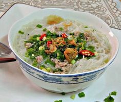 Rice noodles soup w grinded pork (bún gạo thịt heo bằm) ... Easy for cooking <3. Good morning, everyone ;)  From www.vietnamesefood.com.vn