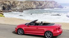 Audi A3, cabriolet, red