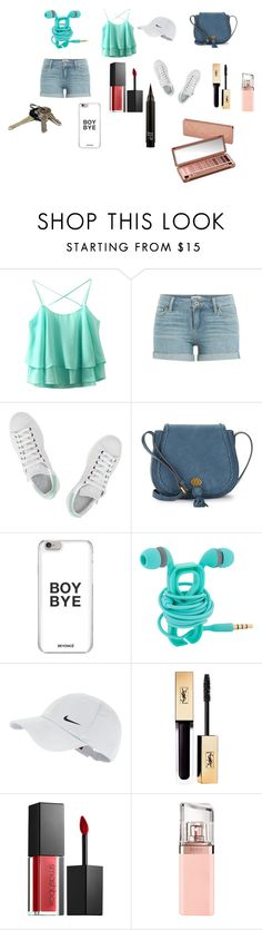 """""""Cheek look for summer"""" by nataliecenteno65 on Polyvore featuring Paige Denim, adidas, Nanette Lepore, NIKE, Smashbox, HUGO and Urban Decay"""