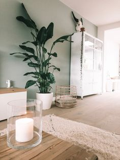 Bedroom Decor Lights, Bedroom Wall Colors, Boho Bedroom Decor, Ikea Living Room, Living Room Green, Living Rooms, Bungalow Renovation, Front Rooms, Home Deco