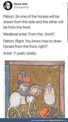 Stupid Funny Memes, Funny Relatable Memes, Haha Funny, Funny Posts, Hilarious, Funny Stuff, Funny Things, Art History Memes, Classical Art Memes