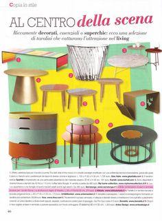L'Abbate Italia: VERO casa 06.2016. Bump low tables > design Nigel Coates.