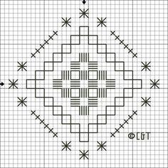 Free Hardanger Patterns - For Beginners and Beyond: Free Hardanger Steps and Stars Pattern - Free Printable Hardanger Chart
