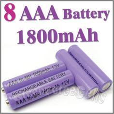 8 AAA 1800mAh 1.2 V Ni-MH rechargeable battery  RC P1