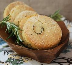 Almond Rosemary Biscuits Shared on https://www.facebook.com/LowCarbZen |#LowCarb (Leave out the optional 1Tbsp of honey - maybe put a sprinkle of your favorite sweetener)