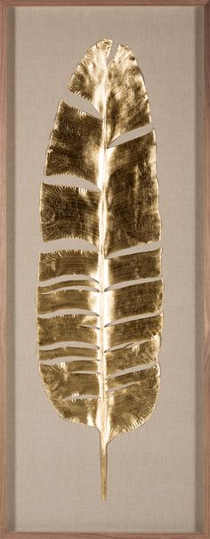 Natural Curiosities: Banana Leaves, Goldleaf.