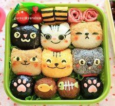 Bento cats ! (=^ェ^=) ♥