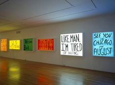 edgina:Electric Signs, 2002 bySam Durant