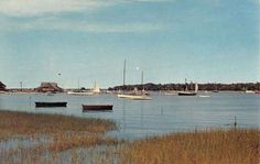 Shelter-Island-Long-Island-New-York-Sail-Boat-Scene-Had a boat in that harbor