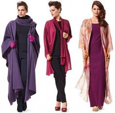 poncho jacket , Love the Purple one