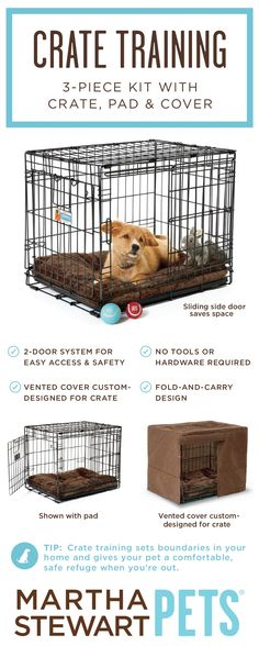 Do you plan on #cratetraining your new puppy? Learn more and shop #MarthaStewartPets crates - only @petsmartcorp