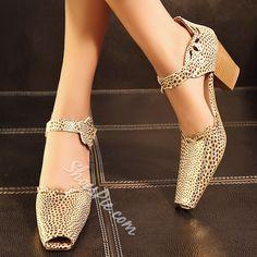 Shoespie Cut-outs Peep-toe Square Heels Dress Sandals, Strap Sandals, Shoes Sandals, Zapatillas Peep Toe, Shoe Boots, Ankle Boots, Cruise Dress, Wedding Shoes Heels, Full Figured Women