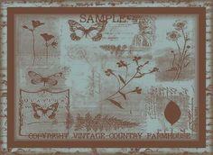 Vintage Botanicals Ebay Auction Template for sale