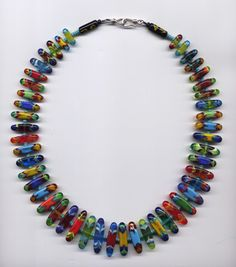 Sage & Tom Holland  Unity Through Diversity Necklace  blown glass, sterling silver