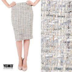 This season wear natural wool & cotton textures VARIETY Skirt YOKKO   fall16 #cotton #wool #skirts #fashion #fall16 #yokko #style #office