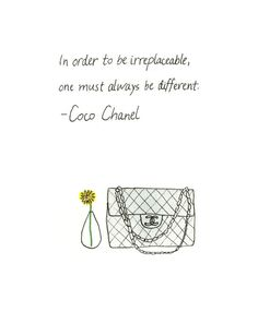 Coco Chanel Handbag 8x10 Chanel Quote High by bonjourfrenchie