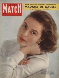 Ingrid Bergman en couverture de Match en 1959 photographiée par Cecil Beaton