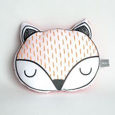 Sleepy fox cushionWoodland pillow Kids pillow by AliciaCambridge