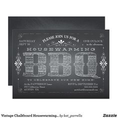 Shop Vintage Chalkboard Wedding Shower BBQ Invitation created by kat_parrella. Chalkboard Baby, Vintage Chalkboard, Chalkboard Wedding, Housewarming Party Invitations, Rehearsal Dinner Invitations, Baby Shower Invitations, Wedding Rehearsal, Wedding Show, Invitation Cards