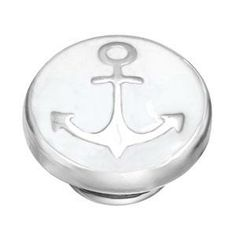 Ahoy Matee JewelPop *New*     You'll find treasure with this anchor JewelPop featuring a sterling silver anchor on a stunning white enamel background.