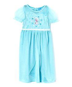 Look at this #zulilyfind! Aqua Frozen Fantasy Nightgown - Toddler by Frozen #zulilyfinds