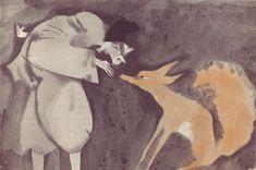 Jaroslav Šerých, illustration for Fairy Tale from Japan, 1970