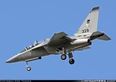 150 Squadron Singapore Air Force Alenia Aermacchi M-346 trainer. Cazaux (LFBC) - France, April 11, 2014.