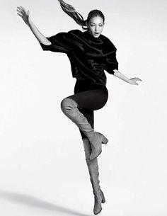 Gigi Hadid for Stuart Weitzman Fall/Winter 2016.