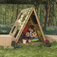 Outdoor Small World Wooden Building Blocks Outdoor Learning Spaces, Kids Outdoor Play, Outdoor Education, Outdoor Fun, Outdoor Decor, Kids Outdoor Spaces, Outdoor Games, Eyfs Outdoor Area, Wooden Gazebo