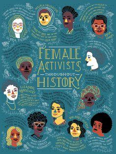Rachel Ignotofsky Female Activists Throughout History #It'sAllInThePast