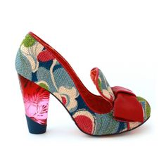 Cool fabric shoes with glass heels