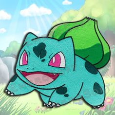 Bullbasaur Pokemon Embroidered Large  Patch IRON&SEW ON 8 x 6.84 and 10 x 8.5 inches by EmbroSoft on Etsy